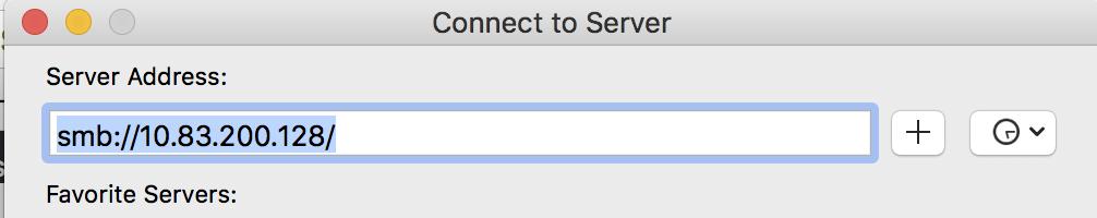 MacOS connecting to SAMBA server